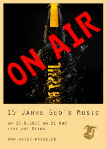 Flyer 15 Jahre Geo´s Music